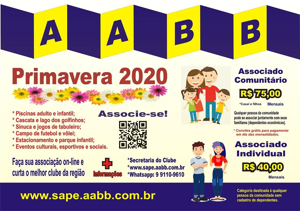 AABB-Sapé lança campanha de primavera para ampliação do quadro associativo