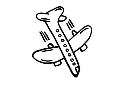 Flugzeug, Silhouette – Absturz
