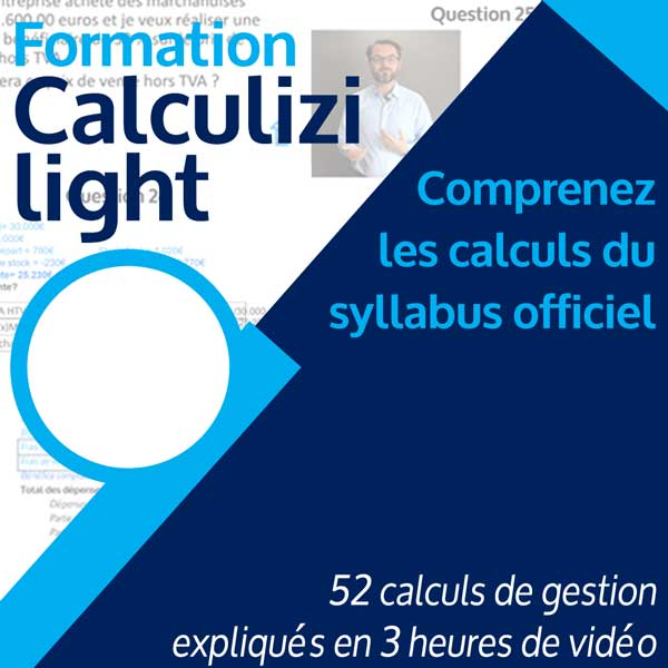 Image résumé formation gestion Calculizi light