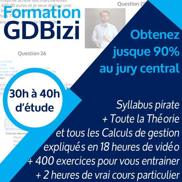 Image résumé formation gestion GdBizi