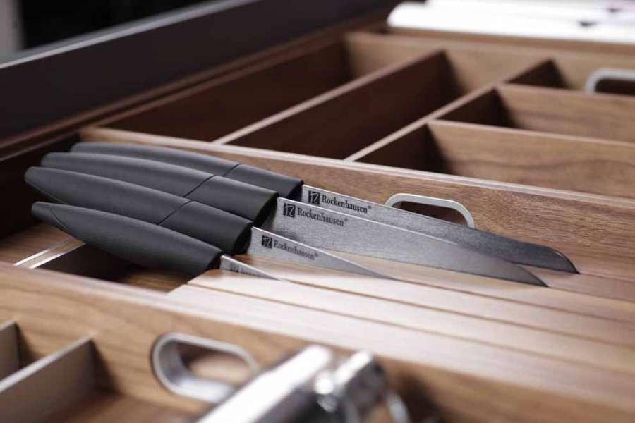 Accessori ed elementi per l'organizzazione interna delle cucine: Accessori Interni Legno Massello Per Cassetti Holzwerk Rockenhausen