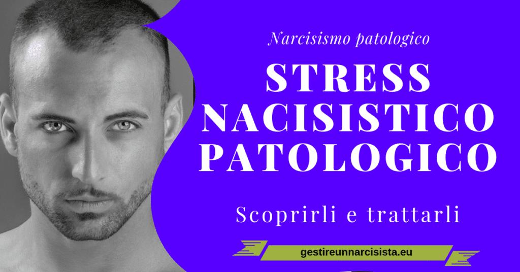 stress del narcisista viso uomo