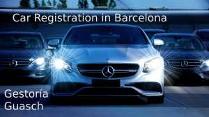 Car registration in Barcelona