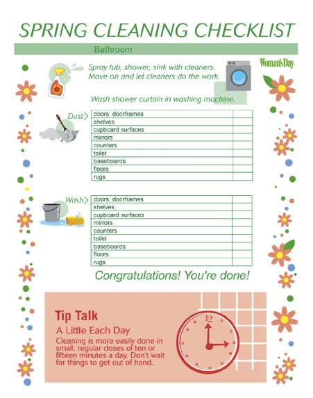 spring cleaninig checklist