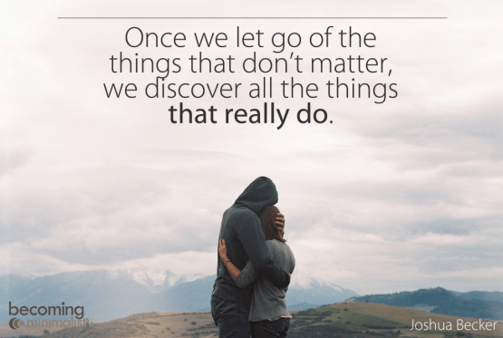 Once we let go