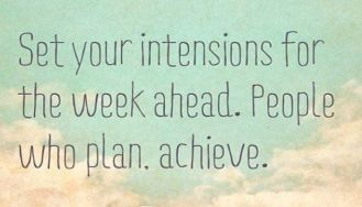 plan your day with intention