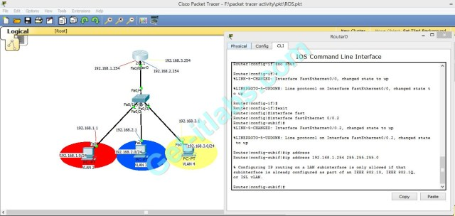 Cisco VLAN ROS router sub-interface