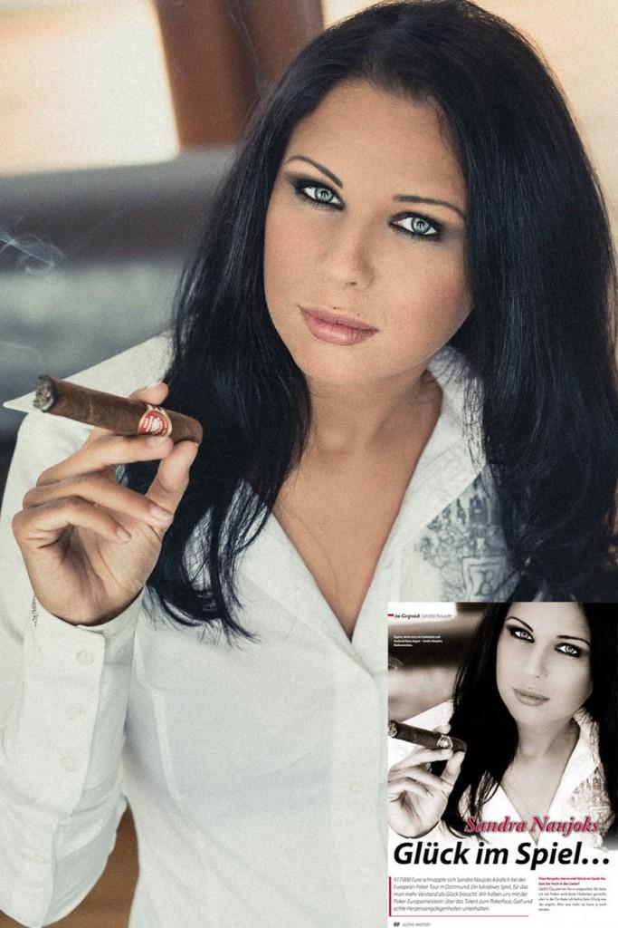 PokerEuropameisterin Sandra Naujoks bei Pro7  GETSHOT