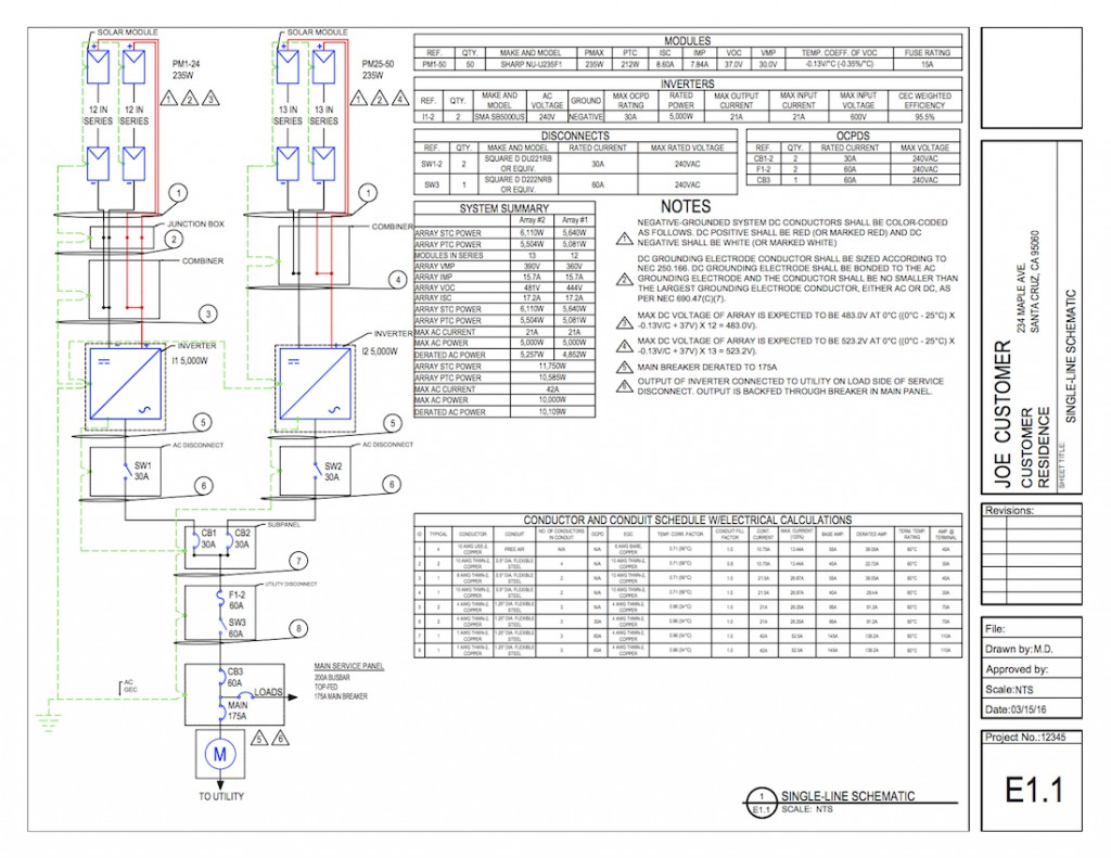 three line solar diagram dodge dakota wiring pv documents and reports w solardesigntool
