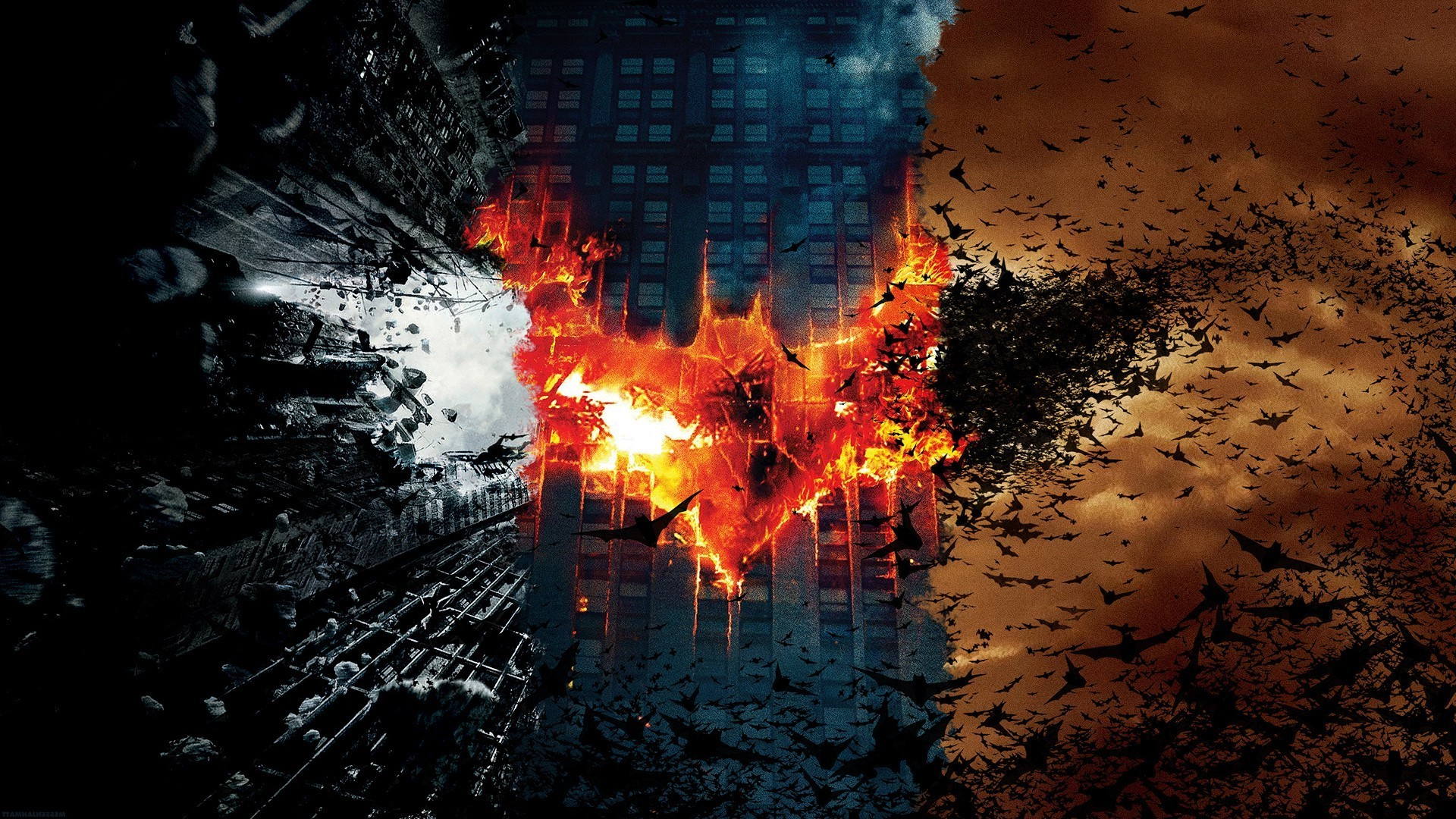 Dark Knight Falls Wallpaper Wallpaper 1920x1080 Px Batman Begins Movies The Dark