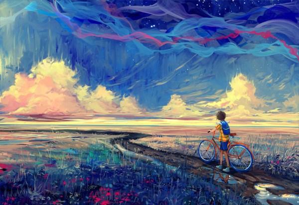Wallpaper 2560x1760 Px Artwork Bicycle Fantasy Art