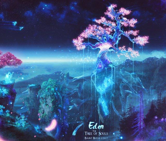 X Px Birds Butterfly Deer Digital Art Eden Fantasy Art Galaxy Nature Sakura Tree Sky Souls