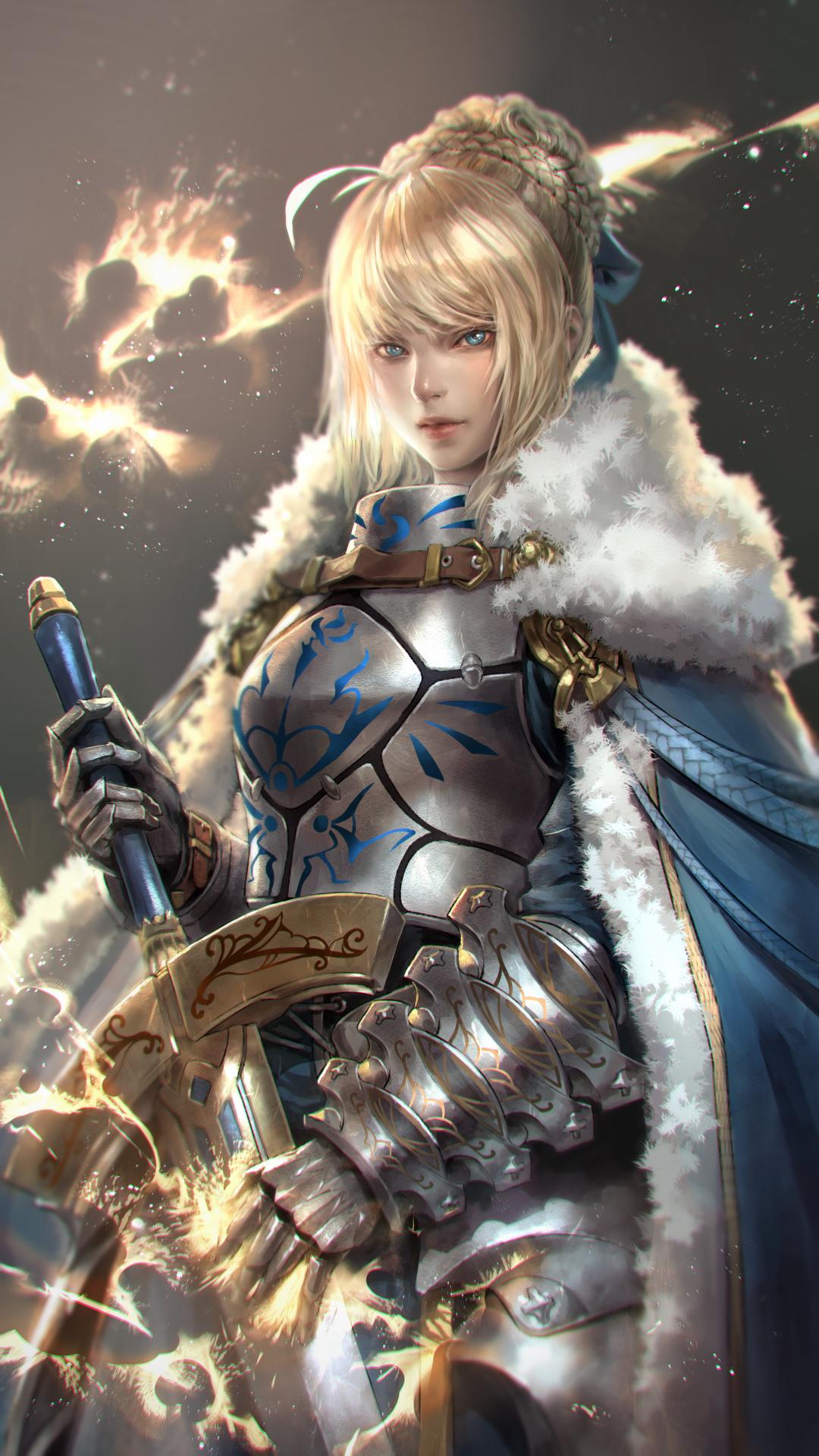 Anime Girl Wallpaper Depth Of Field Wallpaper Fate Series Fate Grand Order Saber Armor