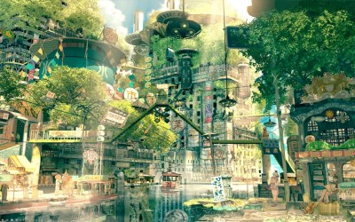 anime nature drawing japan boy cityscape imperial desktop fictional background japanese hd water wallpapers plant computer metropolis tourist tree feature