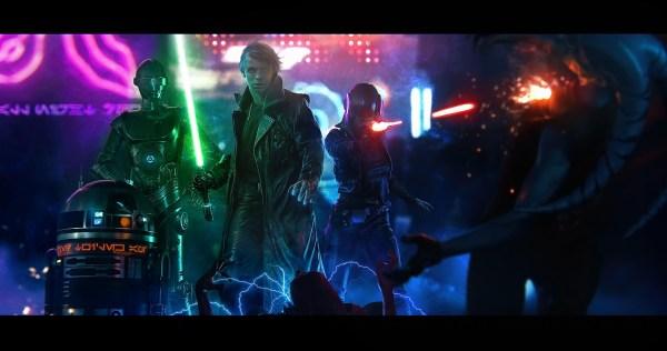 Star Wars Cyberpunk Art