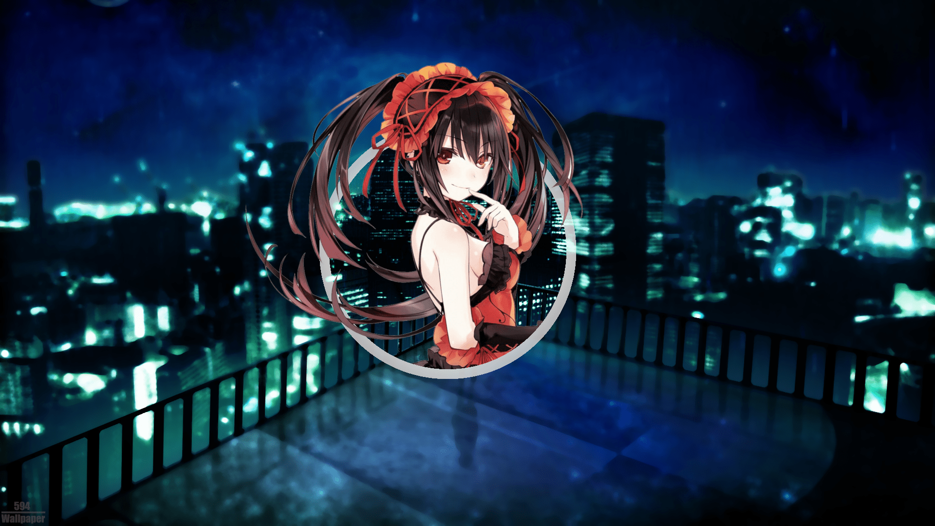 No way to find something special? Wallpaper : Wallpaper anime, Date A Live, night view ...