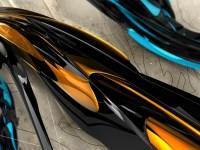 Wallpaper : abstract, car, 3D, yellow, hood, wheel, line ...