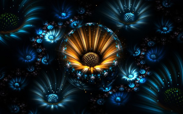 Fractal Abstract Flowers