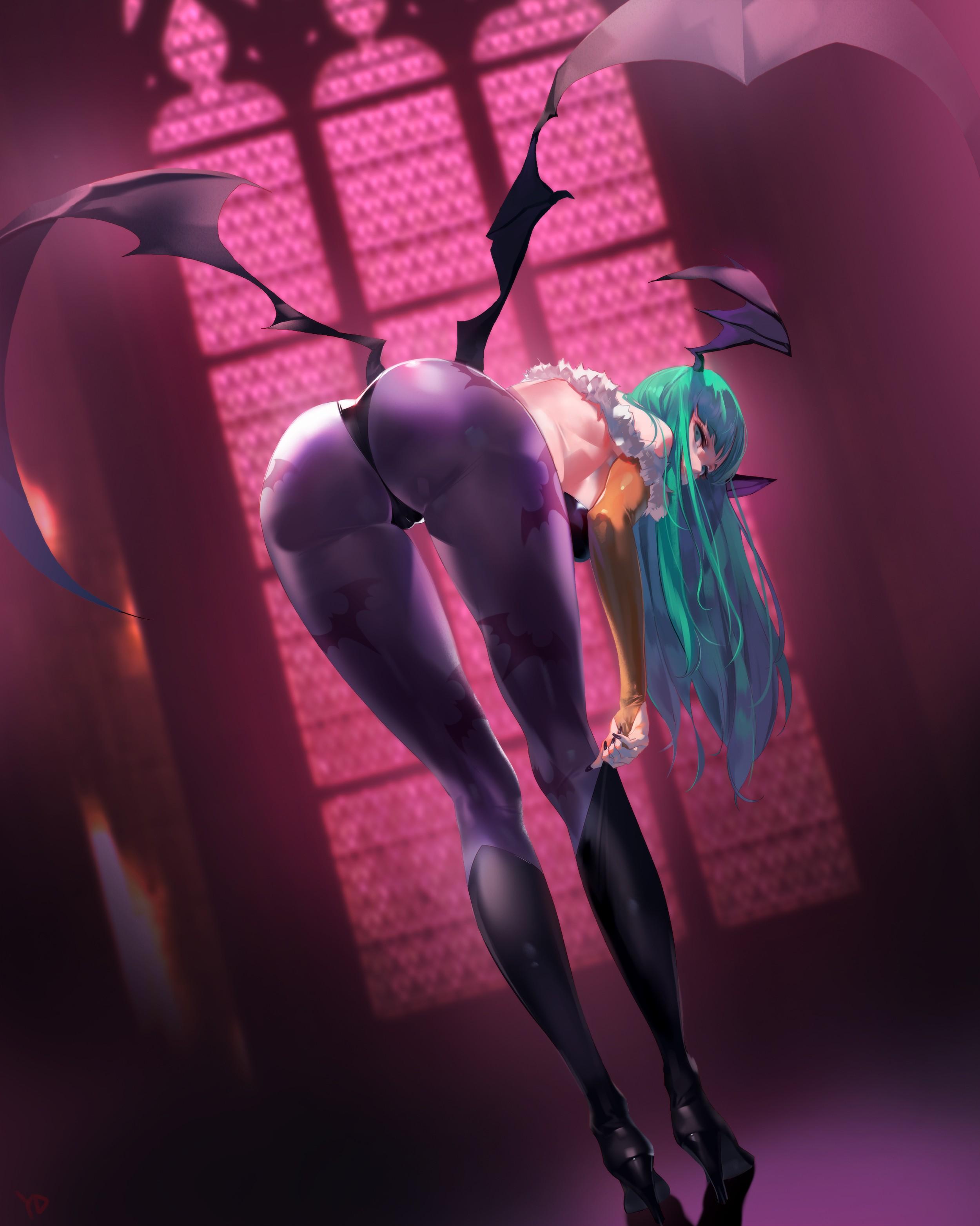 Ecchi Anime Demon Girl Wallpaper Android Wallpaper Anime Girls Ass Wings No Bra Heels