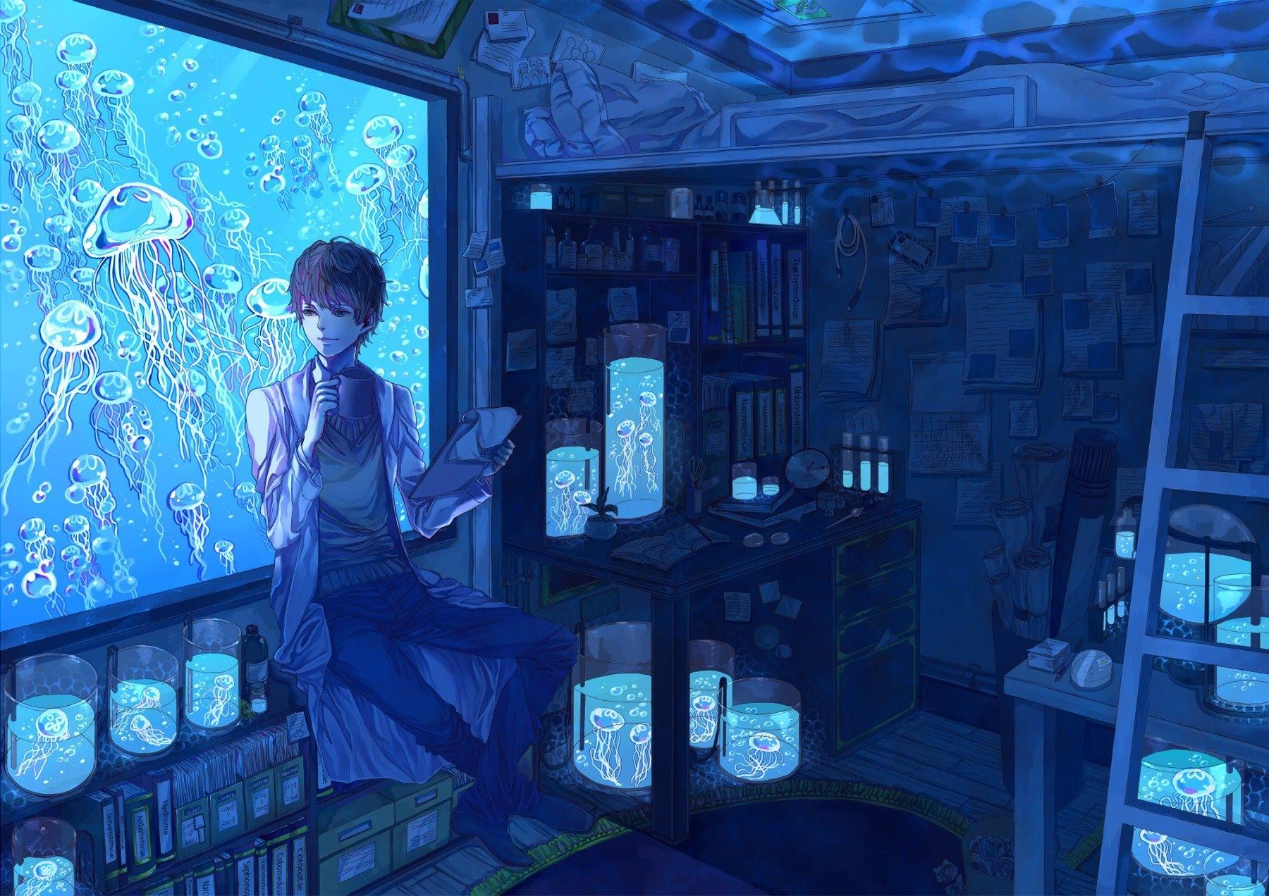 Phone Wallpaper Boy And Girl Sunset Anime Papel De Parede Anime Azul Cientistas Aqu 225 Rio