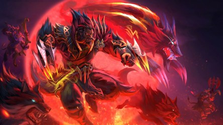Wallpaper : anime dragon wolf demon Dota 2 Steam software Defense of the Ancients Lycan mythology ART flame darkness warlord graphics 1920x1080 px computer wallpaper fictional character special effects geological phenomenon mythical