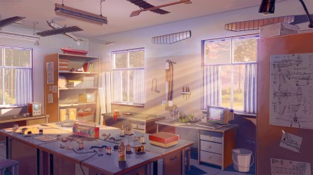 anime room kitchen living interior hd novel visual cottage wallpapers estate background schematic everlasting aircraft radio summer rays sun konachan