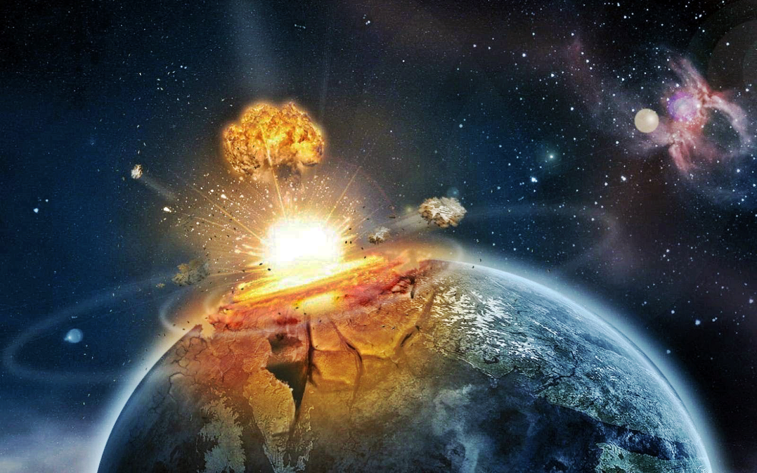 3d Asteroid Wallpaper Wallpaper Apocalypse Asteroid Earth Explosion Meteor