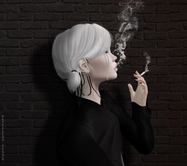 Wallpaper Black Portrait Smoke Fashion Hair Avatar Head Virtual Art Girl
