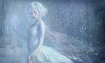 fairy anime angel snow winter blonde mythical underwater creature butterfly character fictional computer screenshot wallpapers wallhere hd