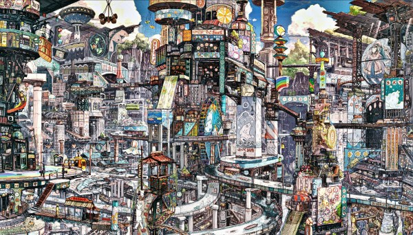 Wallpaper City Cityscape Anime Building Metropolis Imperial Boy Art Landmark Urban