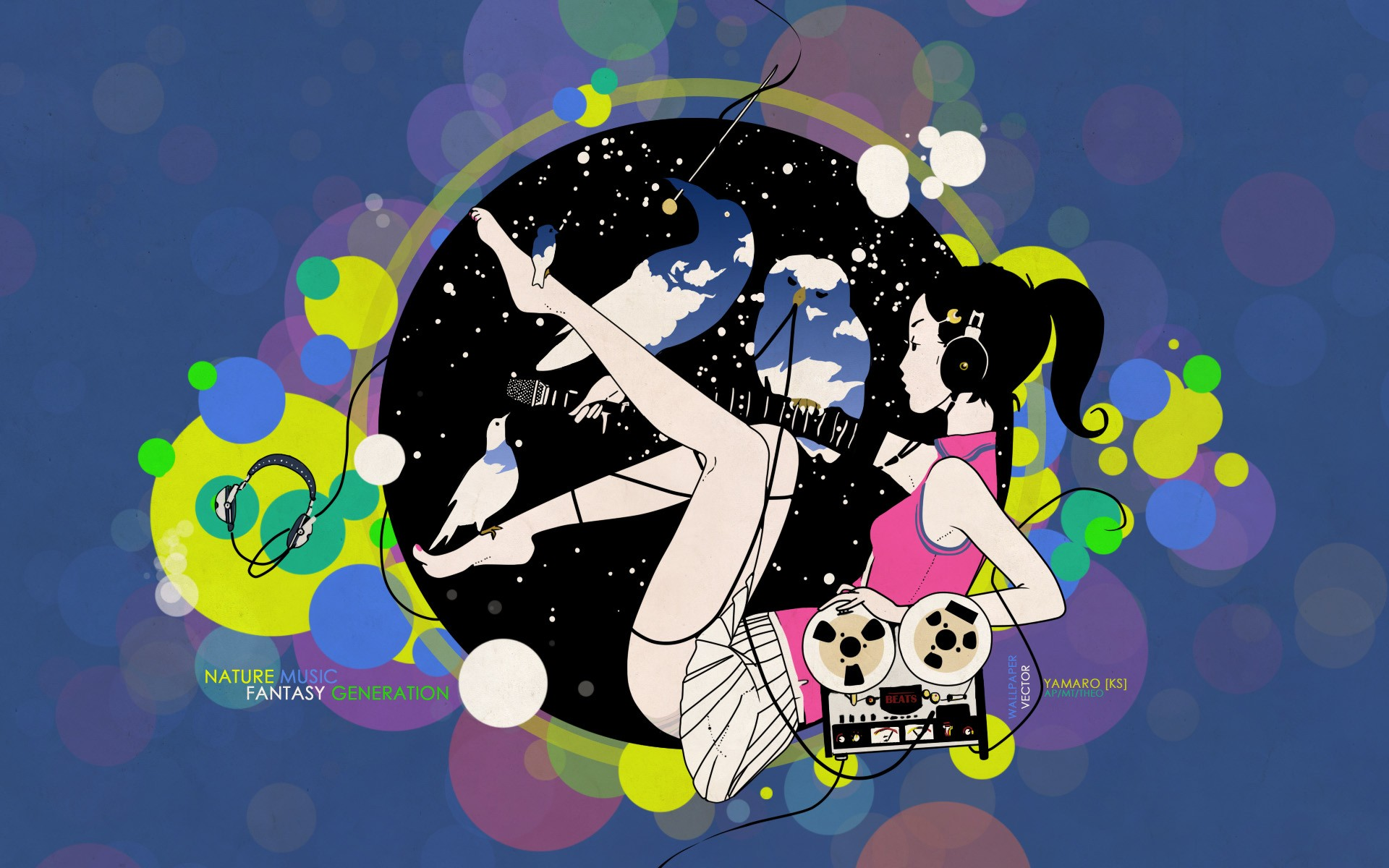 Girl Generation Cartoon Wallpaper Wallpaper Colorful Illustration Anime Girls Cartoon