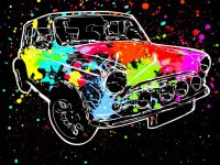 Wallpaper : colorful, illustration, car, vehicle, paint ...