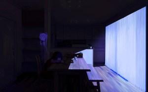 anime dark vocaloid miku phone interior cup darkness hatsune table background stage lighting wallpapers desktop backgrounds scenographer screenshot wall wallhere