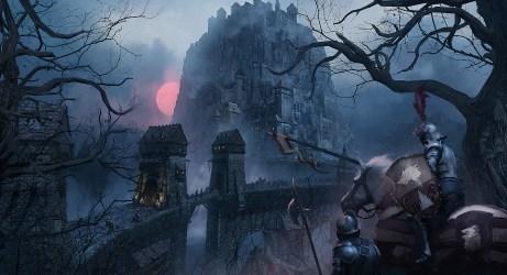 knight medieval fantasy digital castle shield horse middenheim warrior sun wolf wallhere artstation artwork