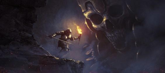 warrior fantasy medieval soldier knight horror skull sword giant dark digital jim lord wolnir villalba daniel souls nez wallhaven artwork