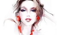 Wallpaper : face, drawing, women, artwork, cartoon, mouth ...
