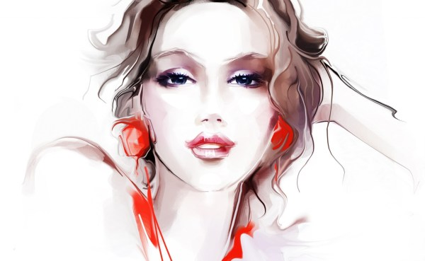Wallpaper Face Drawing Women Artwork Cartoon Mouth Nose Head Beauty Woman Sense