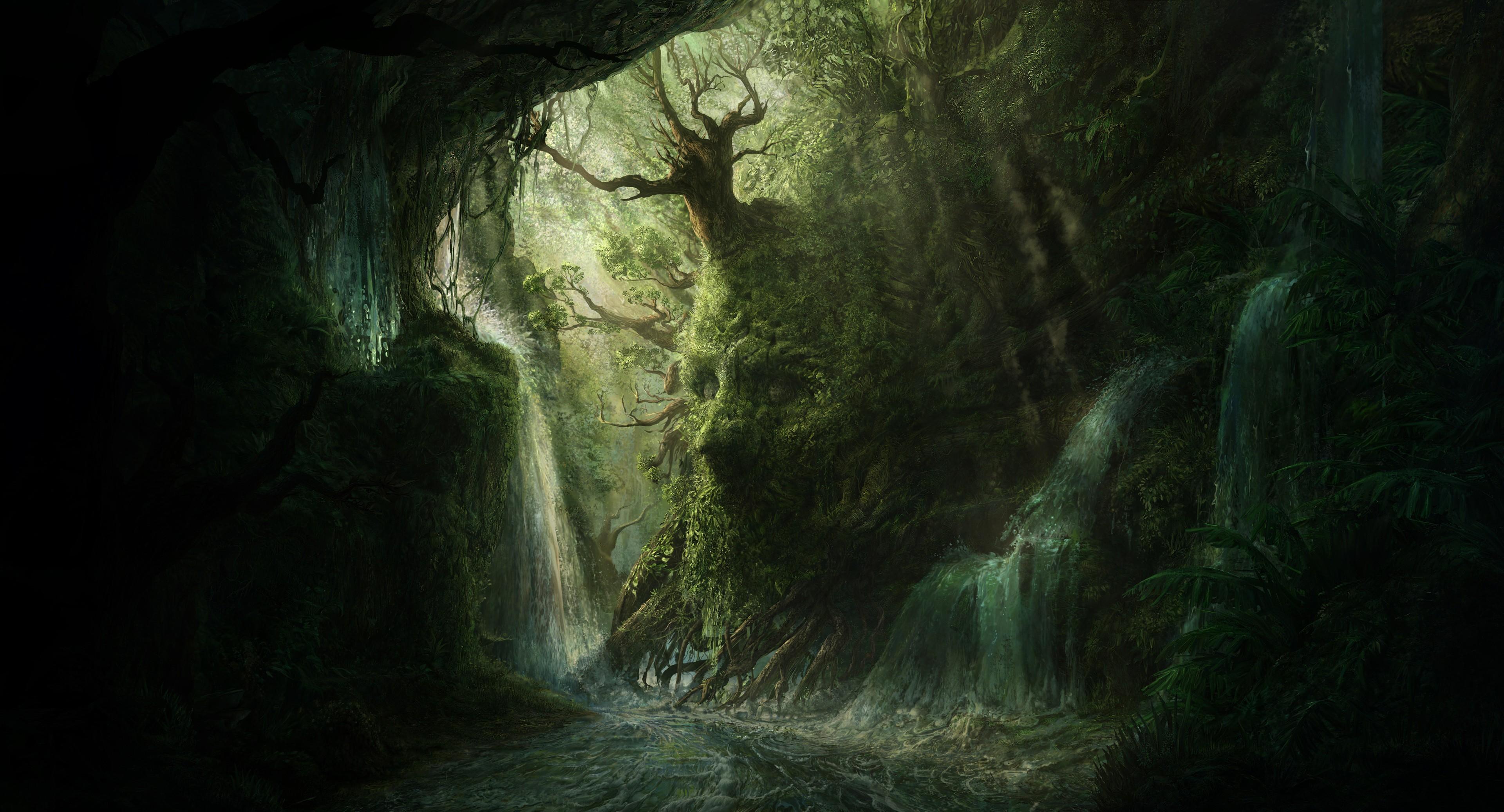 Mystical Creatures In The Fall Wallpaper Fond D 233 Cran Visage Art Fantastique La Nature La