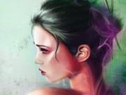 wallpaper face women model