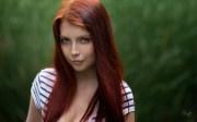 wallpaper face women redhead