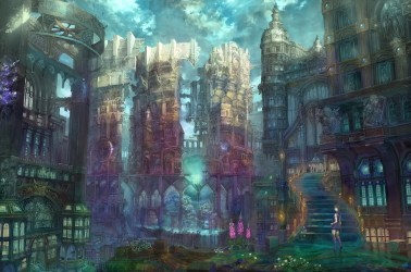 anime fantasy gothic architecture cityscape imperial boy building animation cathedral artwork hd metropolis screenshot wallpapers wallhere