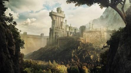 fantasy castle artwork ruins ancient cityscape morning landmark atmospheric phenomenon screenshot history hd wallhere general