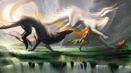 Wallpaper : fantasy art love dragon mythology screenshot 1920x1080 px computer wallpaper fictional character mythical creature 1920x1080 wallhaven 608056 HD Wallpapers WallHere