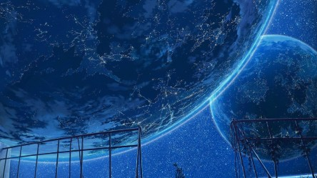 Wallpaper : fantasy art night anime planet sky artwork stars Earth blue concept art world universe energy 1920x1080 px computer wallpaper atmosphere of earth outer space phenomenon 1920x1080 CoolWallpapers 797965 HD Wallpapers