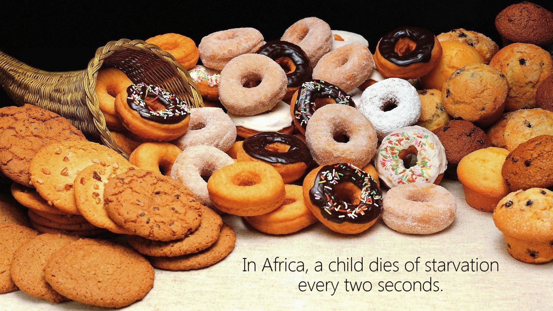 wallpaper doughnuts dessert muffins