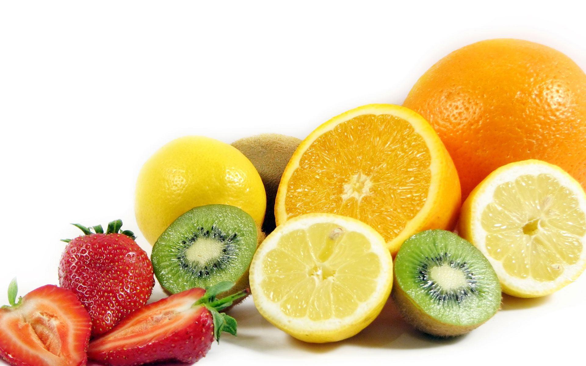 デスクトップ壁紙 : フード, ベリー, 柑橘類, イチゴ, オレンジ, キウイ, 作物, グレープフルーツ, レモン ...