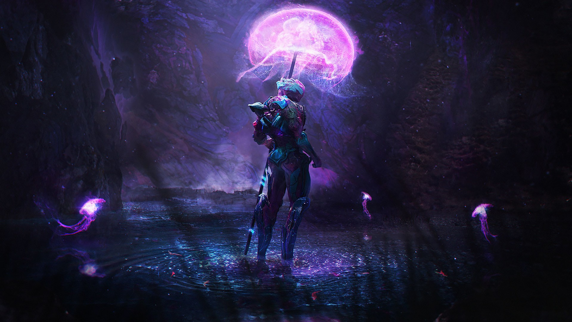 Lonely Girl Hd Wallpapers 1080p Wallpaper Forest Fantasy Art Night Artwork Jellyfish