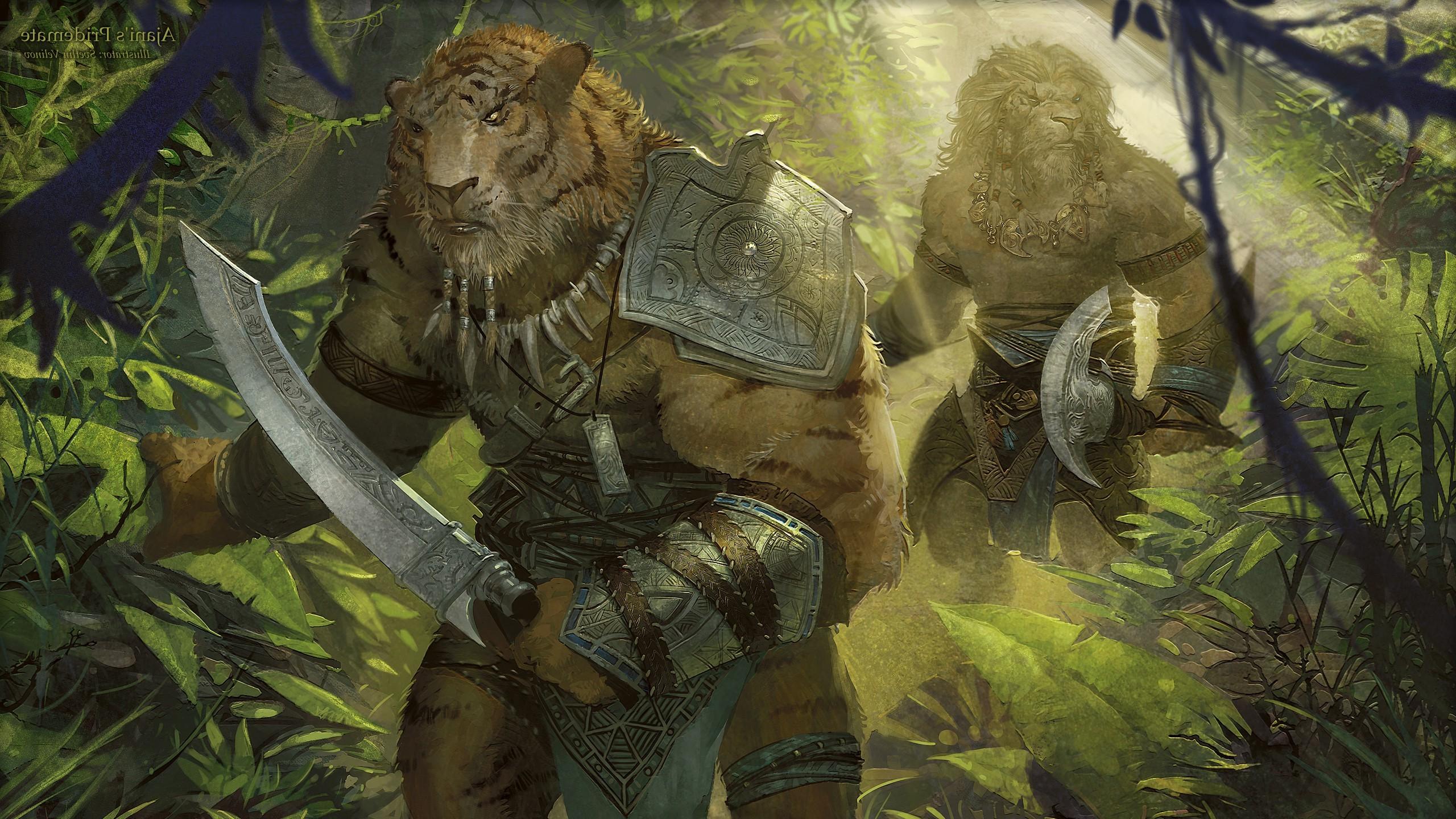 Monster Hunter Girl Wallpaper 1440 Wallpaper Forest Fantasy Art Tiger Wildlife Warrior