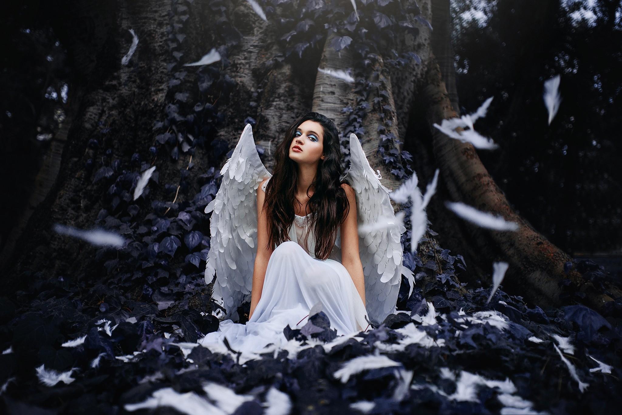 Hintergrundbilder  Wald Frau Fantasie Mdchen Engel