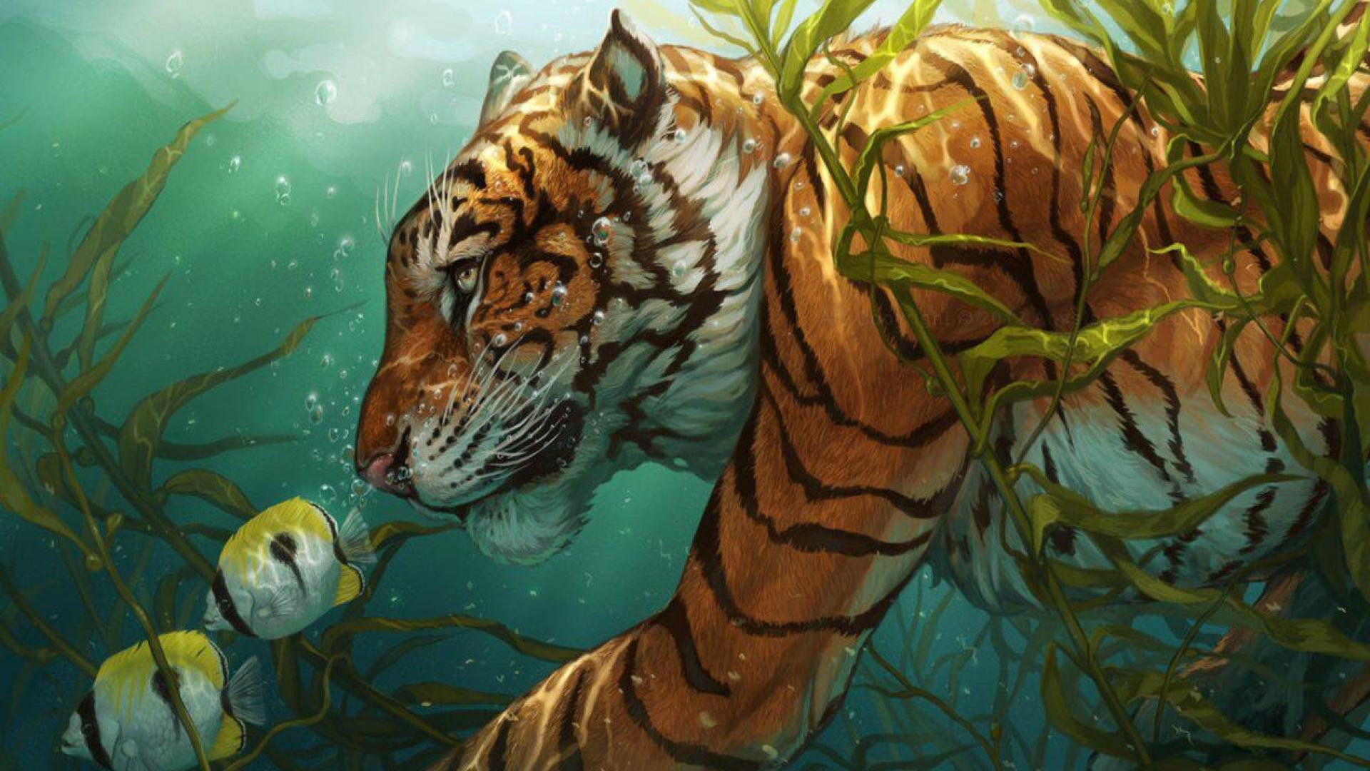 Jungle Animal Wallpaper Papel De Parede Ilustra 231 227 O Animais Obra De Arte Tigre